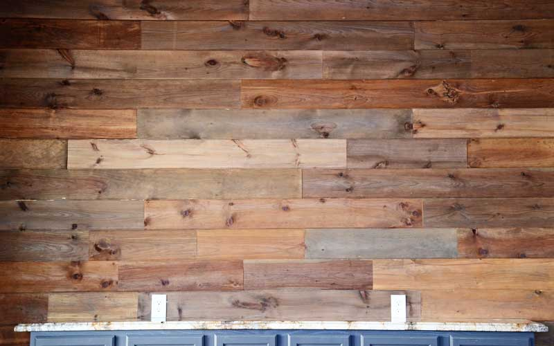 Wooden Wall Boards : How to use steel wool and vinegar make weathered wood