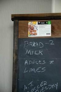 scrap lumber chalkboard bulletin board