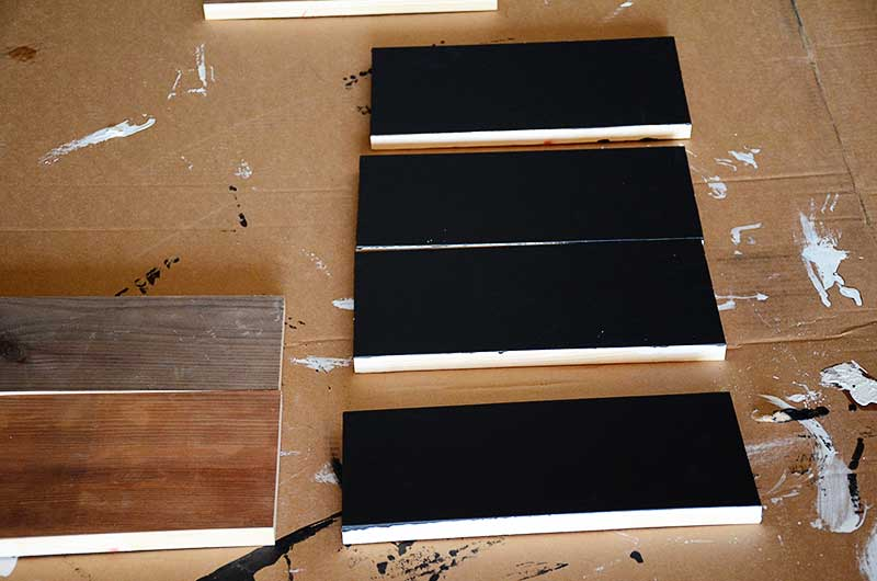 scrap lumber painted chalkboard bulletin board