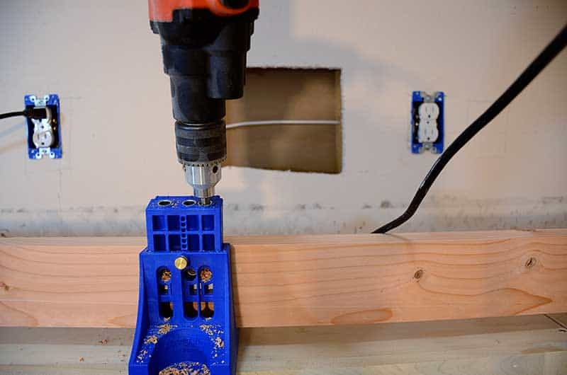 using kreg jig to build countertop