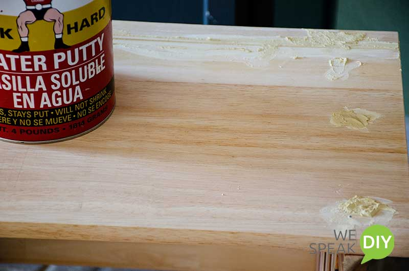 scrap wood bench wood putty