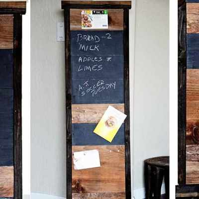 HOW TO BUILD A CHALKBOARD FROM SCRAP WOOD