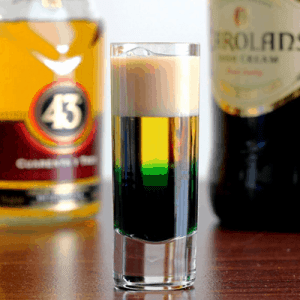 Irish Flag Drink Recipe for St. Patrick's Day
