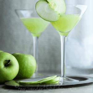 Apple Ginger Martini Recipe for St. Patrick's Day