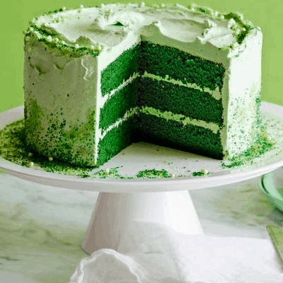 Green Velvet Layer Cake Recipe for St. Patrick's Day