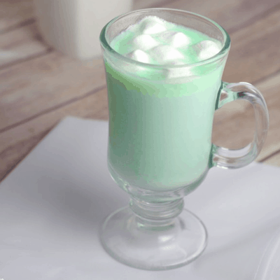 Mint White Hot Chocolate Recipe for St. Patrick's Day