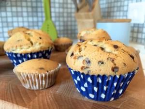 eindresultaat Stracciatella cupcakes