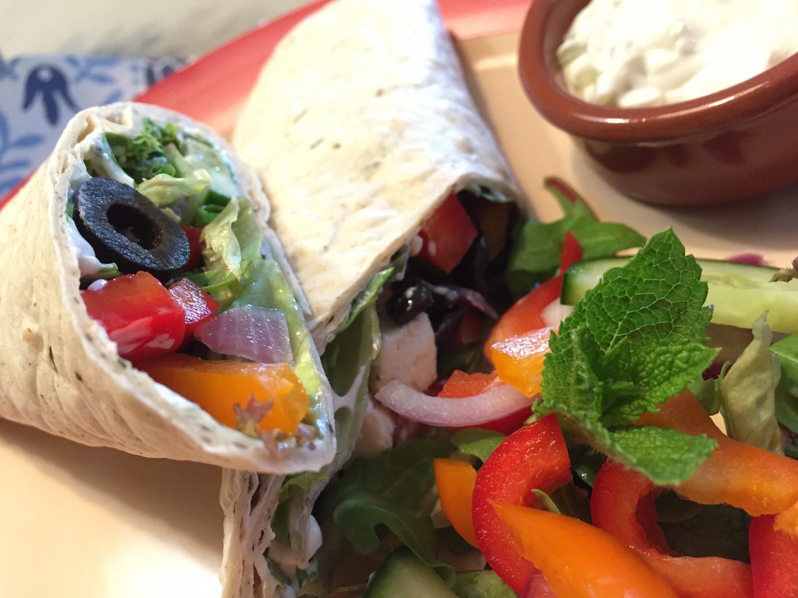 resultaat Griekse wrap met knapperige groenten