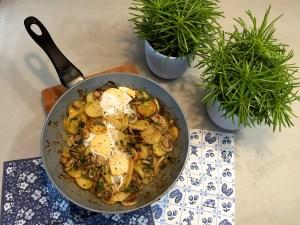 aardappelschotel met champignons