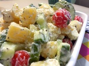Griekse aardappelsalade 1