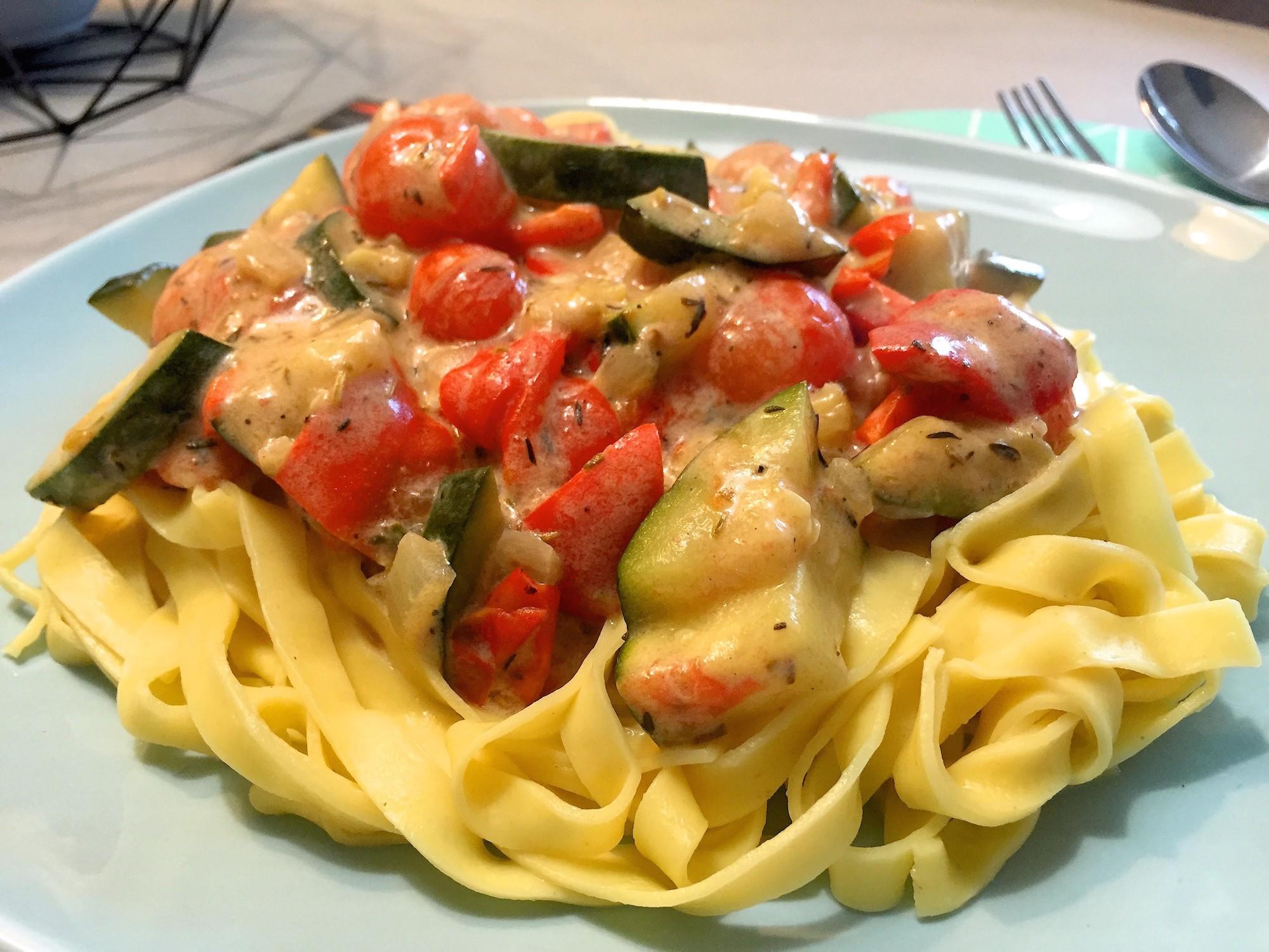 Tagliatelle met mediterraanse groenten 5