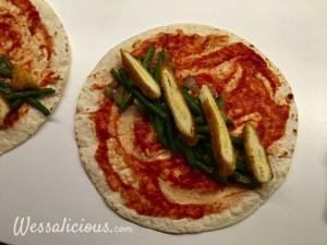 Voorbereiding Enchilada's met sperziebonen