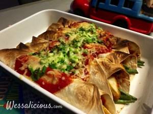 lekker Enchilada's met sperziebonen