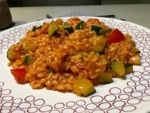 Lekkere Tomaten-courgetterisotto