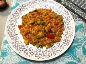 Voorbeeld Tomaten-courgetterisotto