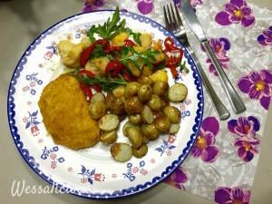 Lekkere Ovenkrieltjes met paprika-bloemkoolsalade en een kaasburger