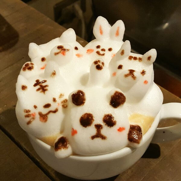 3D latte art pandadroom