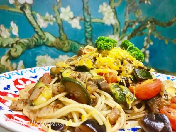 Lekkere Ratatouille spaghetti