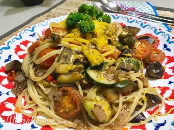 Ratatouille spaghetti met groenten