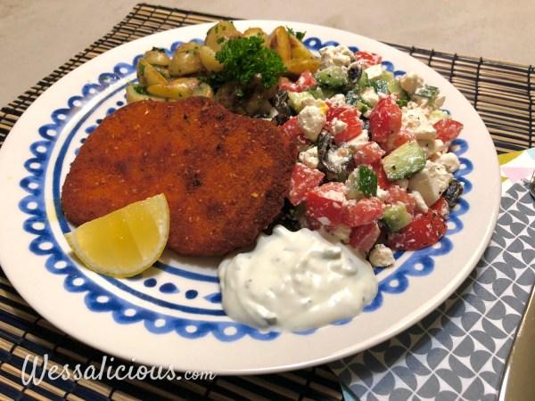Krieltjes in schil met Griekse salade