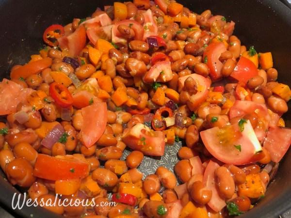 voorbereiding Bonenstoof met aardappel uit de oven