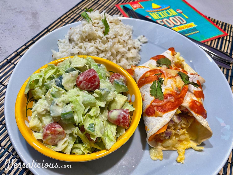 Enchiladas met zoete aardappel