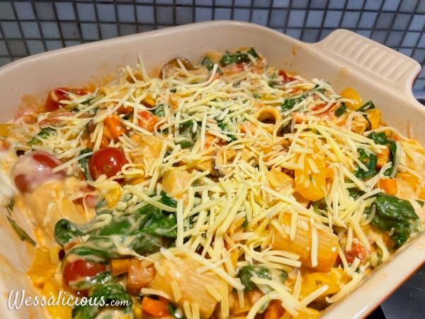 Ovenpasta met tomaat-kaassaus