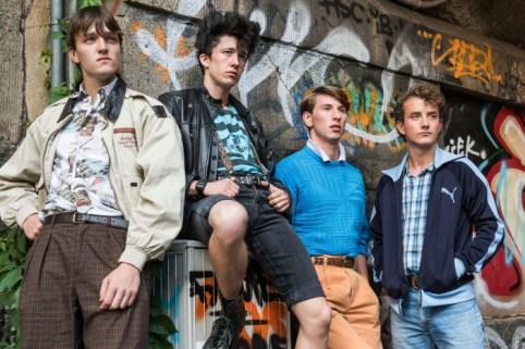 Pommes (Jan Bülow), Mücke (Maximilian Mundt), Spüli (Hauke Petersen) und Frank (David Hugo Schmitz)