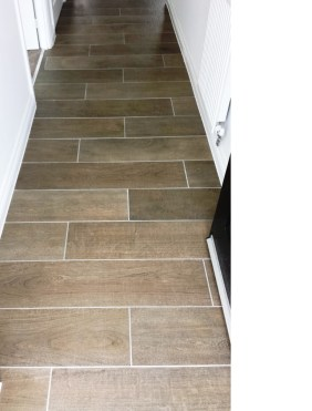 Grout Haze After Removal from Wood Effect Porcelain floor tiles