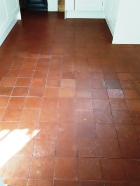 Quarry tiled floor Chester Before Cleaning