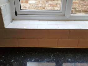 Grout before recolouring at Stockton Heath kitchen