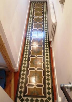 Encaustic Tiled Hallway Padgate After Cleaning