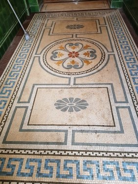 Cleaning Mosaic Flooring Warrington Treasury Building