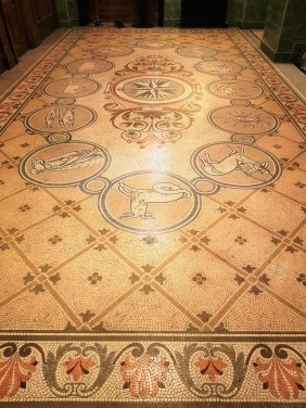 Polishing Mosaic Flooring Warrington Treasury Building