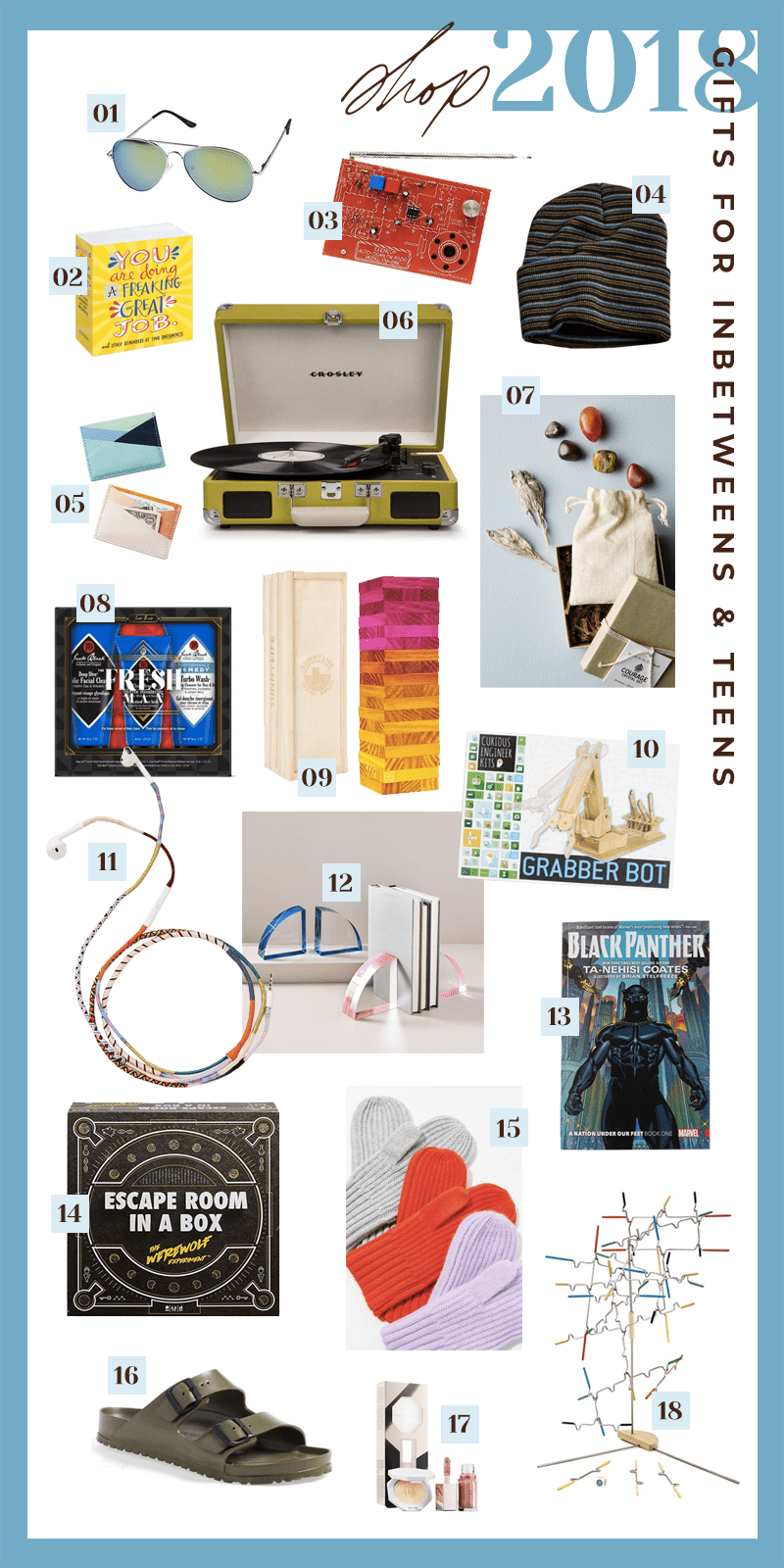 gift guides inbetweeners and teens with 18 gifts