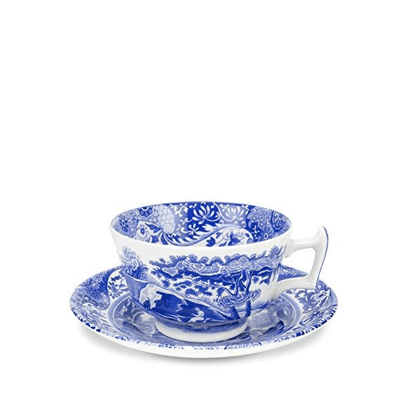 spode blue cup and saucer