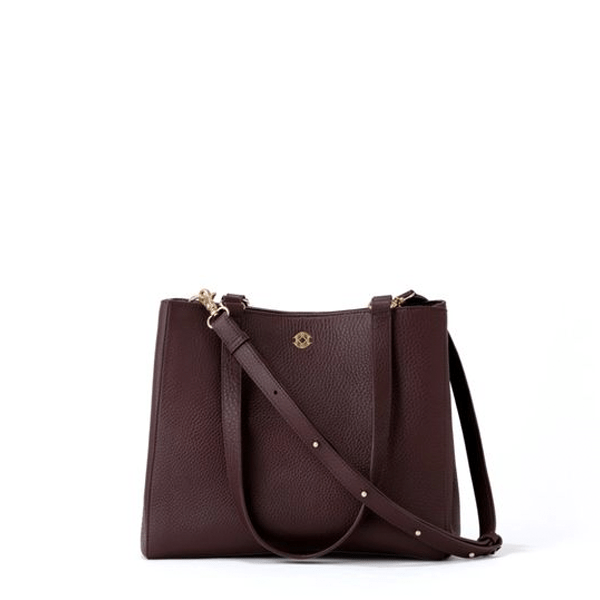 image of Dagne Dover Allyn Tote in Oxblood Leather