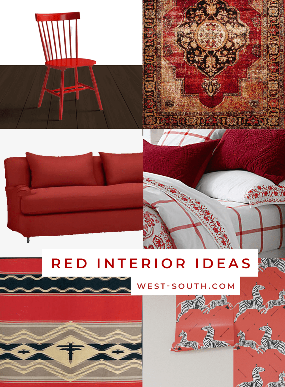 image of red interior decor products
