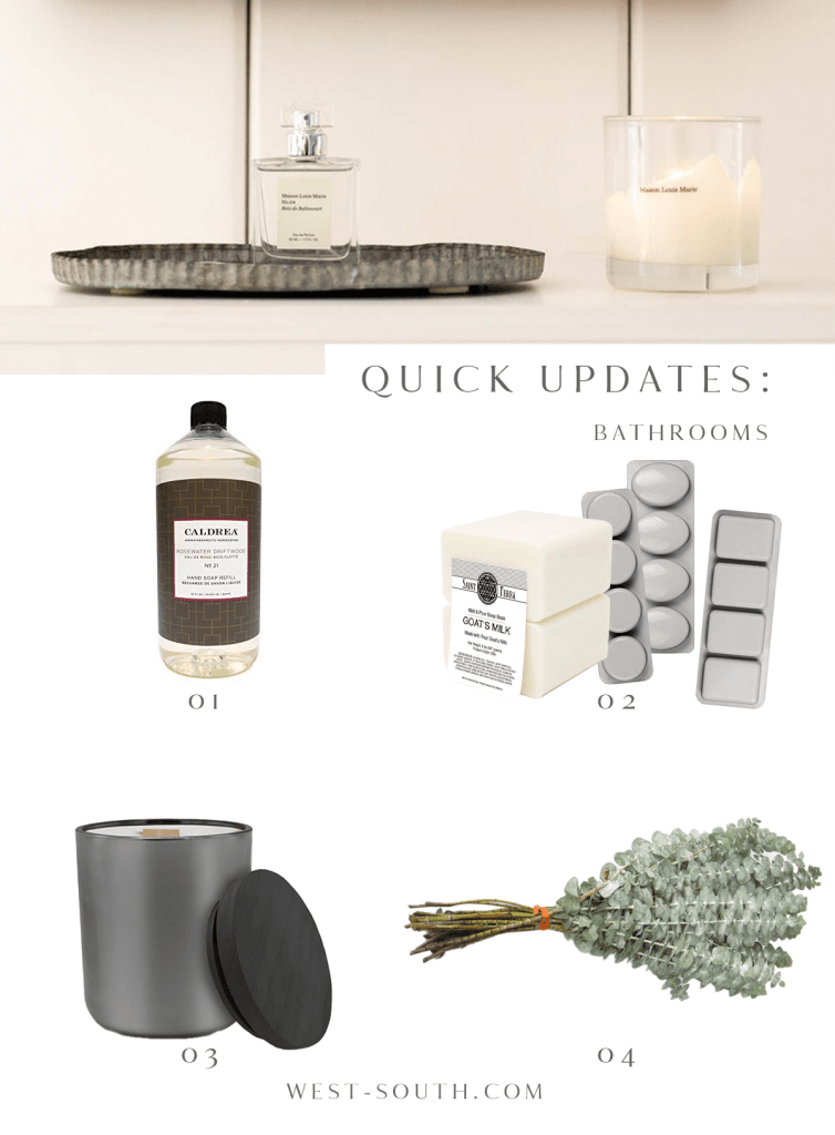 image of quick little luxuries to add to your rental bathroom