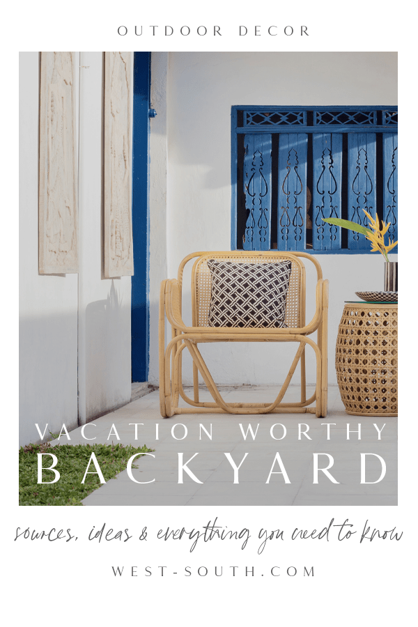 pin image reading Vacation Worth Backyard for outdoor decor by west-south