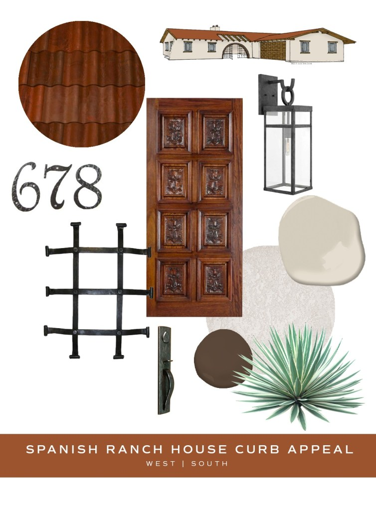 image showing curb appeal ideas for a spanish ranch house