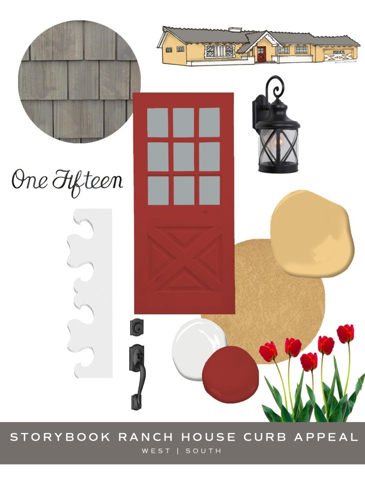 image showing storybook ranch house curb appeal ideas