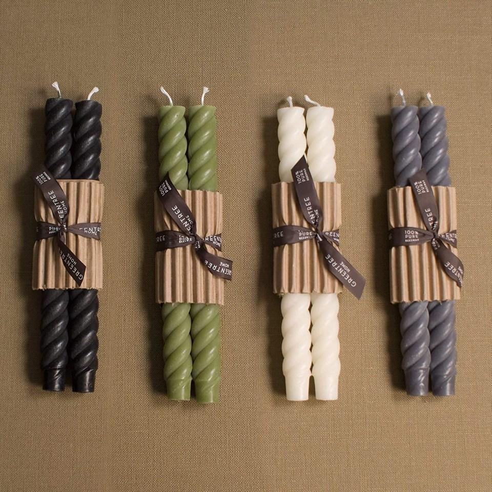 handmade rope taper candles