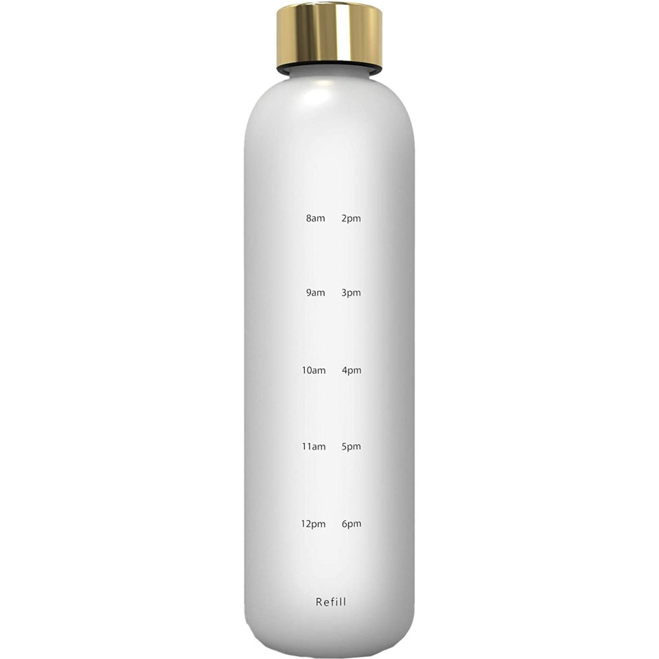 ARC water bottle with time measurement on side