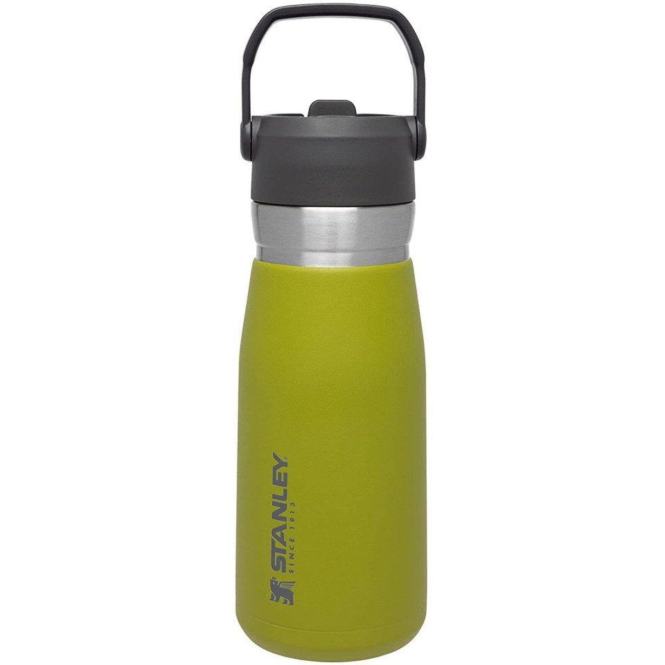 lime green stanley iceflow stainless steel bottle