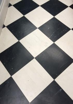 Vinyl Kitchen and Bathroom Floor After Deep Cleaning Worcester Park