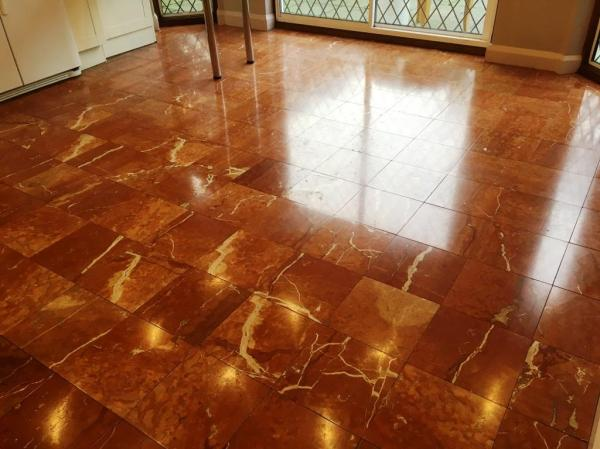 Marble Tiled Floor After Polishing Weybrige