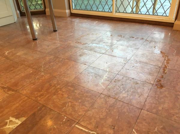Marble Tiled Floor Before Polishing Weybrige