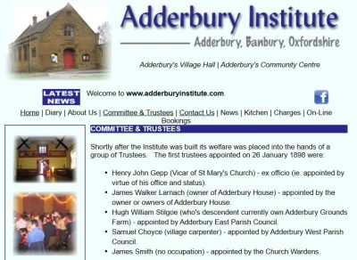Adderbury Institute Website