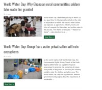 EnviroNewsNigeria.com: Why Ghanaian rural communities seldom take water for granted